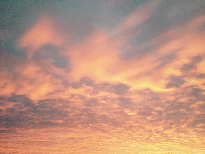 cotton candy sunrise